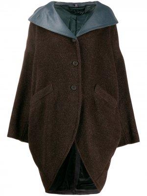 Пальто 1990-х годов на пуговицах Romeo Gigli Pre-Owned. Цвет: коричневый