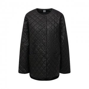 Кожаная куртка Totême. Цвет: чёрный