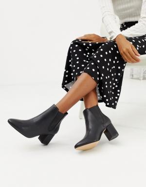 Ботинки челси на среднем каблуке -Черный Faith