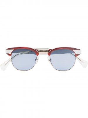 Солнцезащитные очки в круглой оправе из коллаборации с Needles Matsuda. Цвет: красный