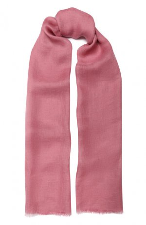 Шаль Neilos из смеси льна и шерсти с шелком Loro Piana. Цвет: розовый