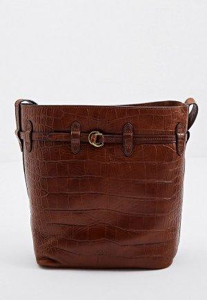 Сумка и кошелек Polo Ralph Lauren. Цвет: коричневый