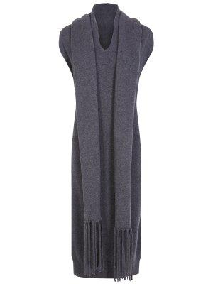 Кашемировое платье с шарфом S.FERRAGAMO