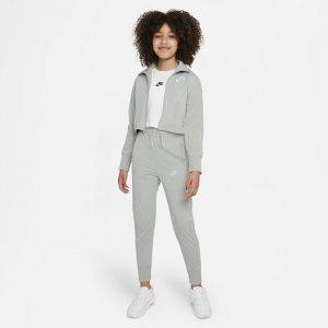 Спортивный костюм с брюками высокой посадкой для девочек школьного возраста Sportswear - Серый Nike