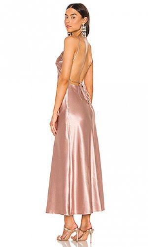 Платье-комбинация estelle Bardot. Цвет: rose