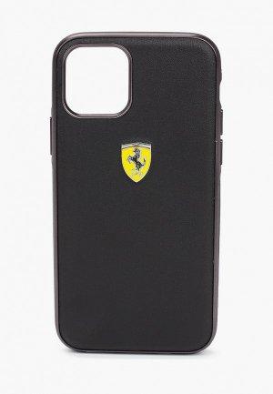 Чехол для iPhone Ferrari 11 Pro, On-Track PU Leather Urban Black. Цвет: черный
