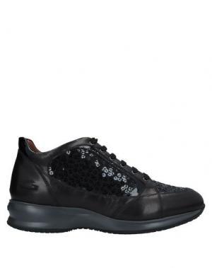 Кеды и кроссовки ALBERTO GUARDIANI. Цвет: черный