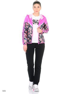 Ветровка ANTA. Цвет: черный, розовый, фиолетовый