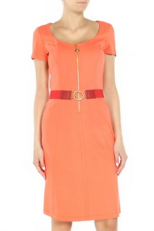Платье Angelo Marani. Цвет: оранжевый
