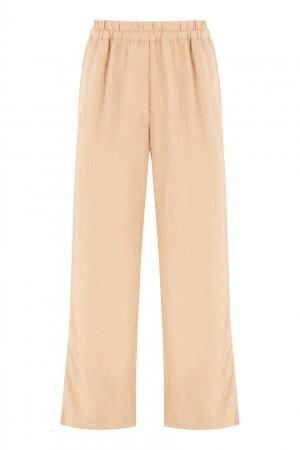Широкие брюки на резинке Acne Studios. Цвет: бежевый