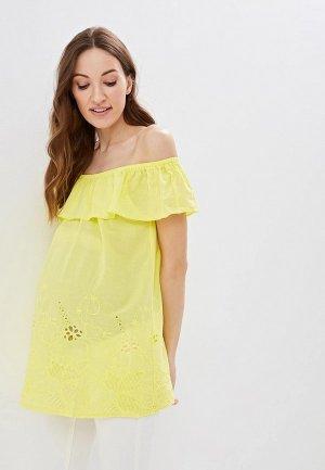 Блуза Очаровательная Адель. Цвет: желтый