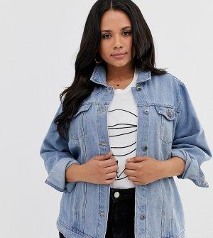 Свободная джинсовая куртка -Синий Simply Be