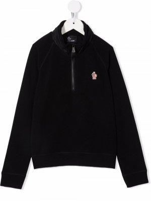 Пуловер с нашивкой-логотипом MONCLER GRENOBLE KIDS. Цвет: черный