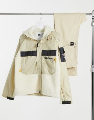 Куртка цвета хаки в стиле унисекс Heritage-Зеленый Helly Hansen