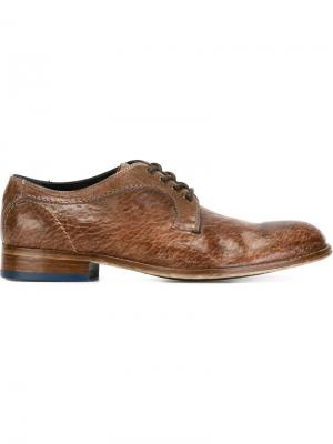 Туфли со шнуровкой Bisonte Gianmarco Lorenzi. Цвет: коричневый