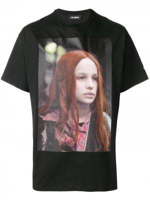 Christiane F. T-shirt Raf Simons. Цвет: черный
