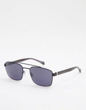 Солнцезащитные очки с квадратными стеклами Hugo Boss 1117/S-Черный цвет