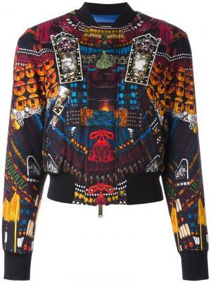 Куртка-бомбер с принтом Samurai Dsquared2. Цвет: чёрный