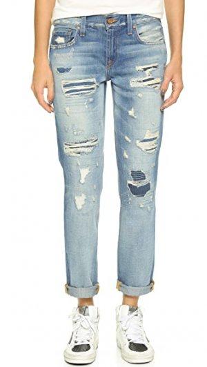 Узкие джинсы-бойфренды Alexa Genetic Los Angeles. Цвет: riptide