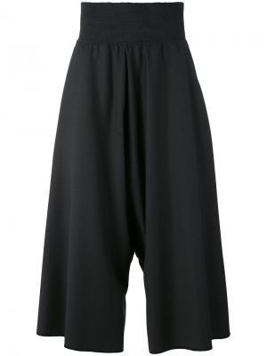 Широкие брюки с заниженным шаговым шагом Bless. Цвет: чёрный