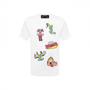 Хлопковая футболка Dom Rebel. Цвет: белый