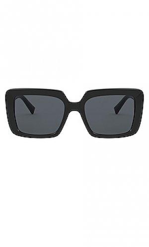 Солнцезащитные очки medusa halo crystal logo VERSACE. Цвет: черный