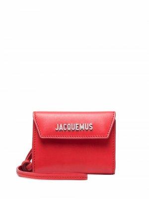 Logo-plaque leather wallet Jacquemus. Цвет: красный