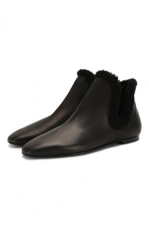 Кожаные ботинки Eros The Row. Цвет: чёрный