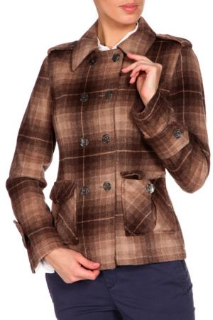 Пальто Eighth Sin. Цвет: коричневый