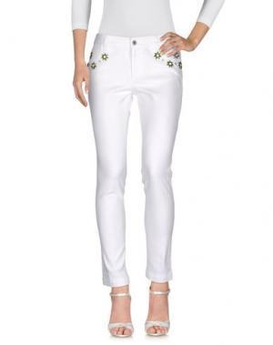 Джинсовые брюки GUCCI. Цвет: белый