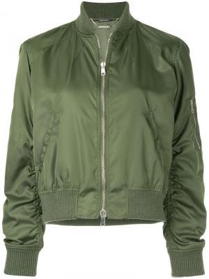 Укороченная куртка-бомбер Alexander McQueen