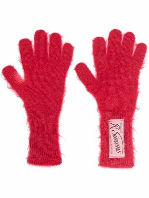 Logo patch gloves Raf Simons. Цвет: красный