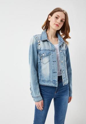 Куртка джинсовая B.Style BS002EWARTA9. Цвет: голубой