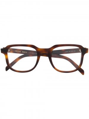 Очки в квадратной оправе Celine Eyewear. Цвет: коричневый