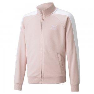 Детская олимпийка Classics T7 Youth Track Jacket PUMA. Цвет: розовый