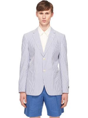 Хлопковый пиджак с принтом в полоску MARC JACOBS. Цвет: полоска