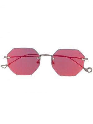 Солнцезащитные очки Oscar с затемненными линзами Eyepetizer. Цвет: серебристый