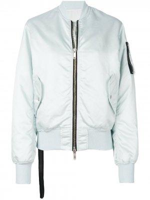 Укороченная куртка-бомбер UNRAVEL PROJECT. Цвет: синий