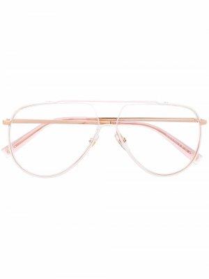 Aviator-frame glasses Givenchy Eyewear. Цвет: белый