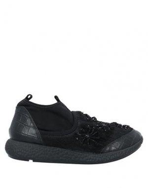 Низкие кеды и кроссовки ROBERTO COLLINA. Цвет: черный