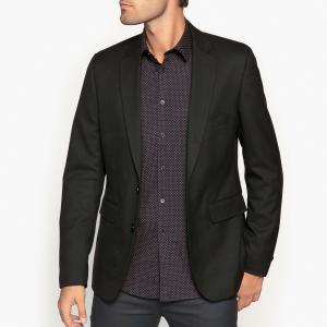 Пиджак костюмный покроя слим La Redoute Collections. Цвет: черный
