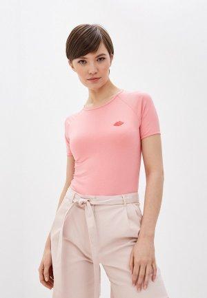 Футболка Terekhov Girl. Цвет: розовый