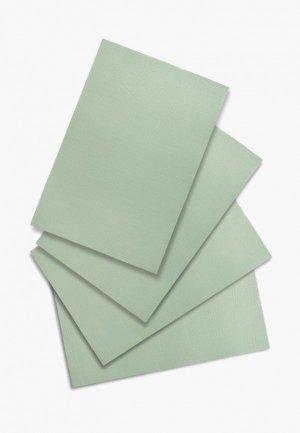 Комплект салфеток сервировочных DeNastia Талисман. Цвет: зеленый