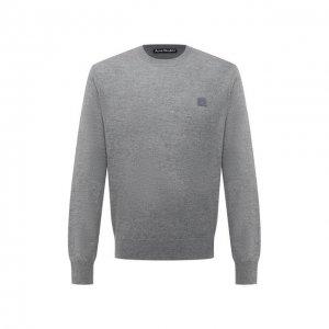 Шерстяной свитер Acne Studios. Цвет: серый