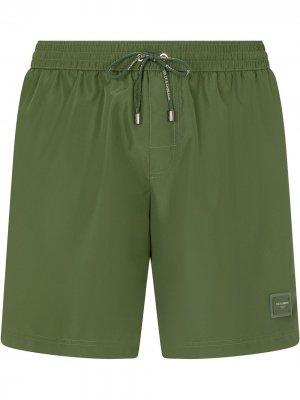 Плавки-шорты с логотипом Dolce & Gabbana. Цвет: зеленый