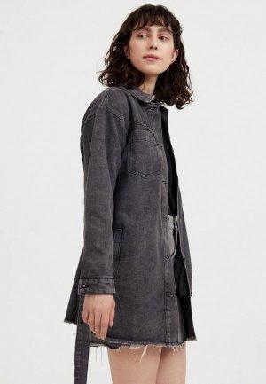 Куртка джинсовая Finn Flare. Цвет: серый