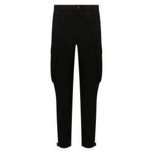 Хлопковые брюки-карго Givenchy. Цвет: чёрный