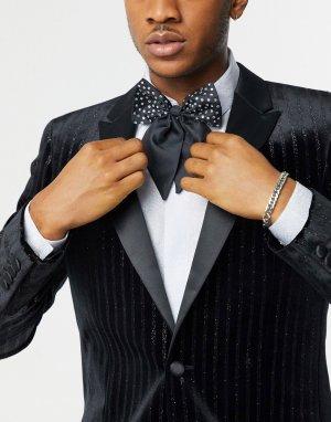 Черный большой галстук-бабочка со стразами ASOS DESIGN