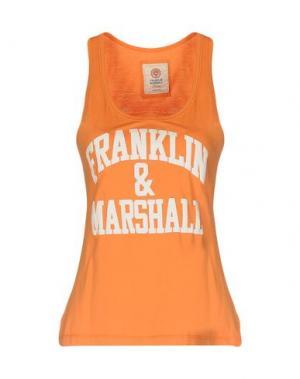 Майка FRANKLIN & MARSHALL. Цвет: оранжевый