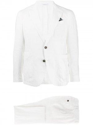 Костюм-двойка с однобортным пиджаком Manuel Ritz. Цвет: белый